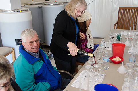 Pouring Wine for Blending