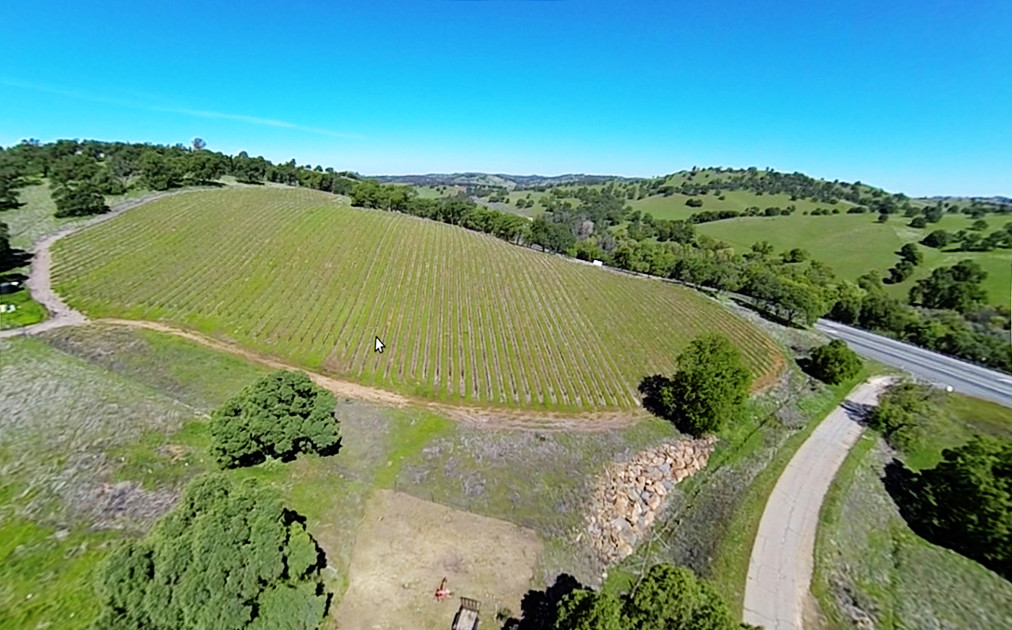 An Arial view of the Vineyard