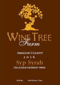 2016  SypSyrah – Port-style Dessert Wine