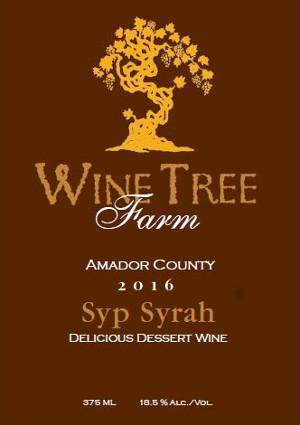 2016 Syp Syrah - port-style Dessert Wine