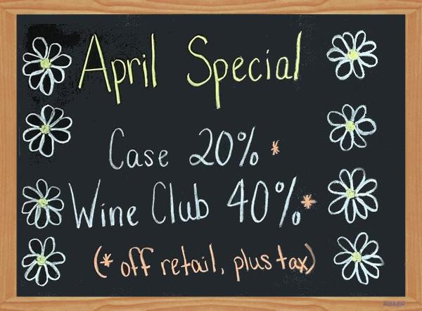 April 2020 Wine Special